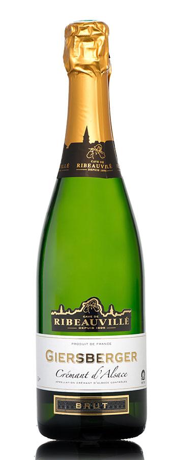 Crémant d'Alsace Giersberger brut Weinflasche