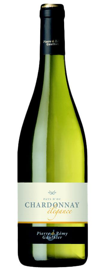 Chardonnay Weinflasche