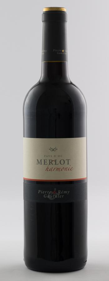 Merlot Harmonie Weinflasche