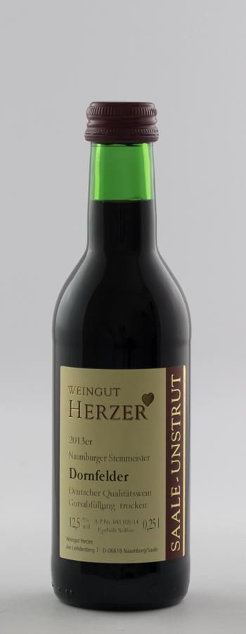 Dornfelder trocken Weinflasche