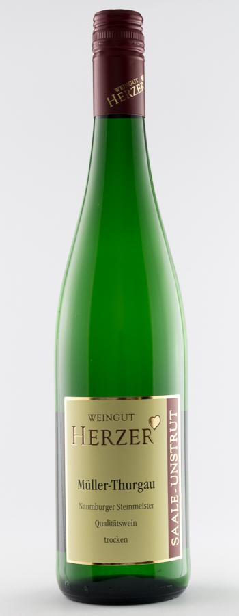 Naumburger Steinmeister Müller-Thurgau Weinflasche