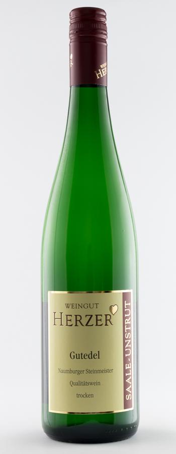 Naumburger Steinmeister Gutedel Weinflasche