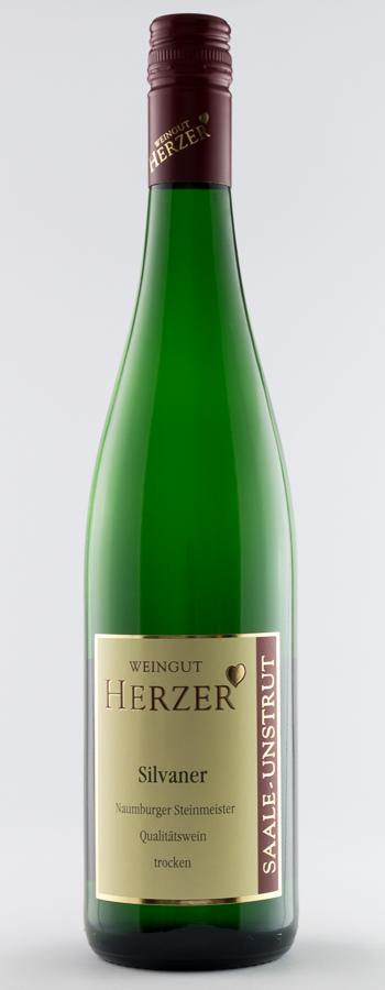Naumburger Steinmeister Silvaner Weinflasche