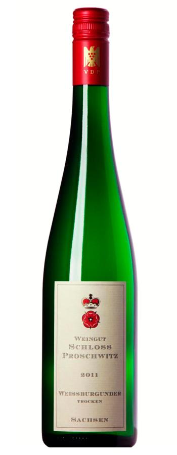 Weissburgunder trocken Weinflasche