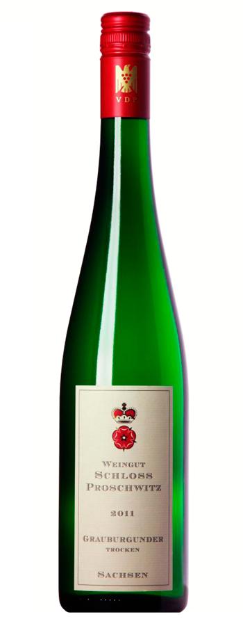 Grauburgunder trocken Weinflasche