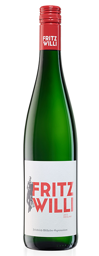 Fritz Willi Riesling Weinflasche