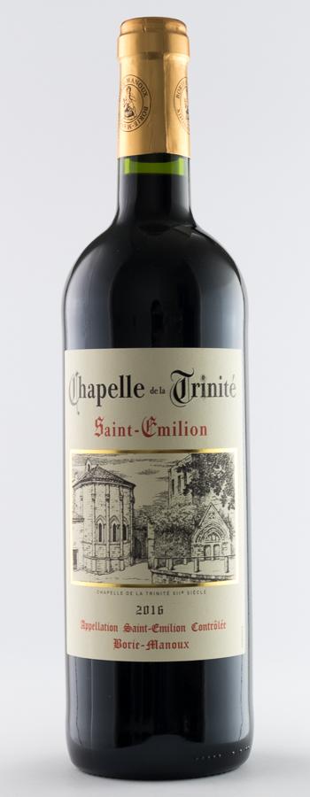 Chapelle de la Trinité Weinflasche