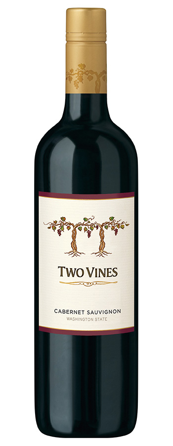 Two Vines Cabernet Sauvignon Weinflasche
