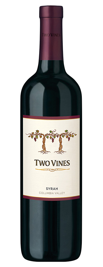Two Vines Shiraz Weinflasche
