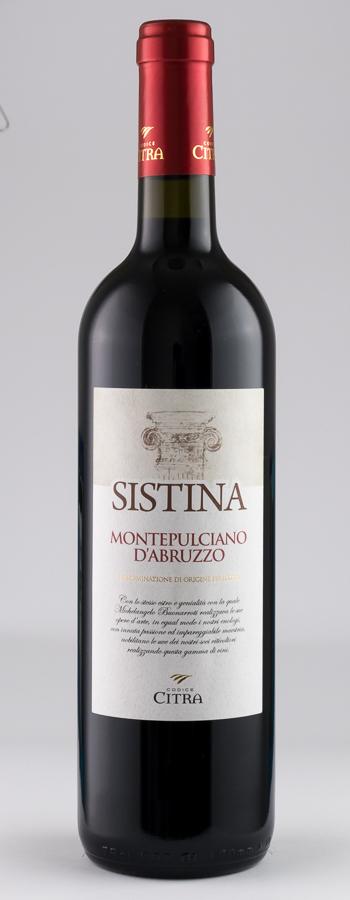 """Sistina"" Montepulciano Weinflasche"