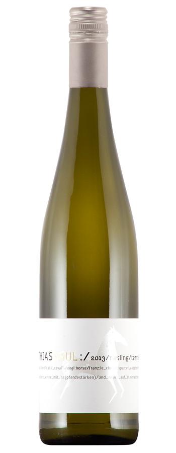 Riesling t'c trocken - terrain calcaire Weinflasche