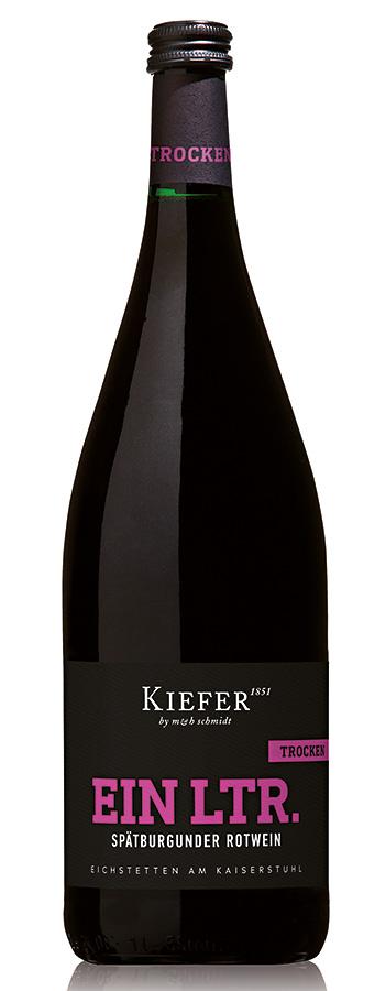 Spätburgunder Rotwein trocken Weinflasche