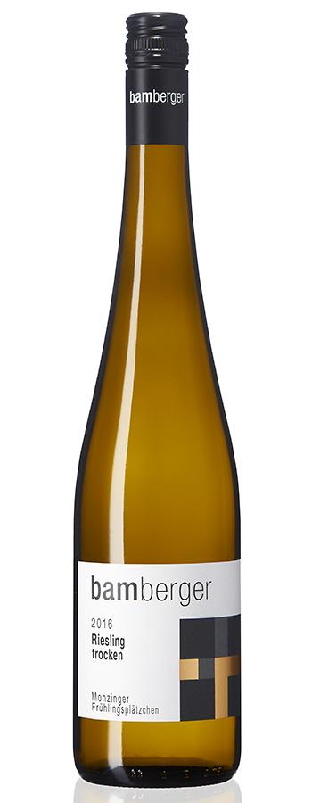 Monzinger Frühlingsplätzchen Riesling Weinflasche