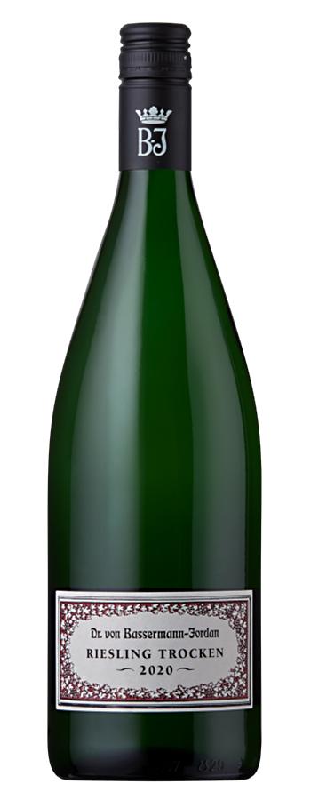 Bassermann-Jordan Riesling trocken Weinflasche