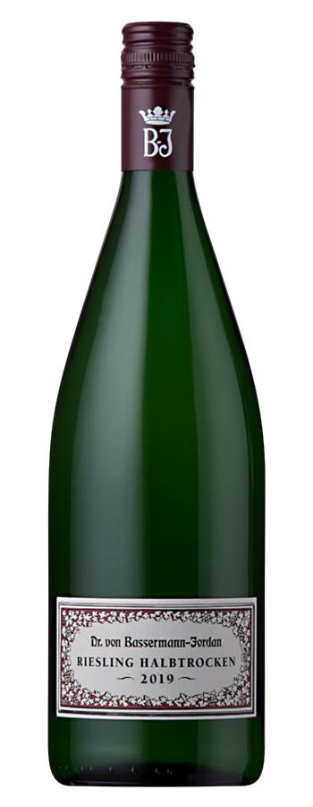 Bassermann-Jordan Riesling halbtrocken Weinflasche