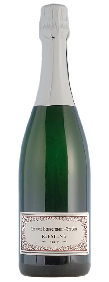 Bassermann-Jordan Riesling Sekt brut Weinflasche