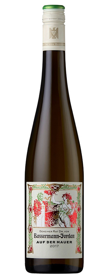 """""""Auf der Mauer"""" Riesling Weinflasche"""